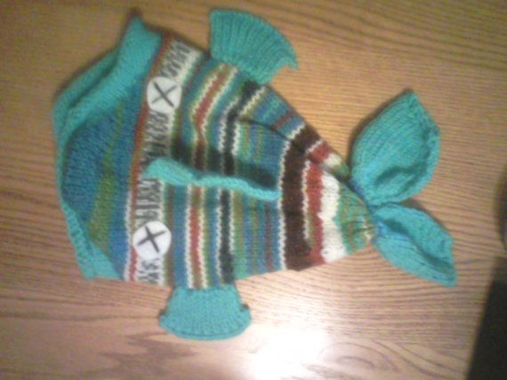 Whimsical Ugly Blue Dead Fish Hat by Puddlebymarsh on Etsy, $15.00