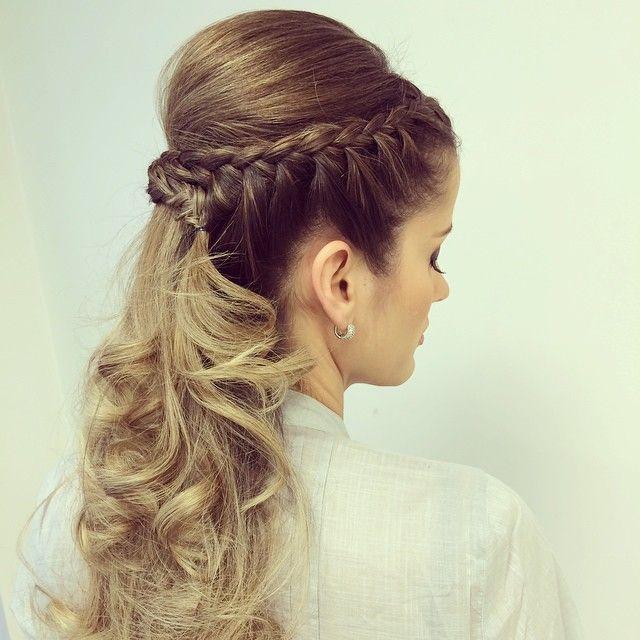 Penteado com trança by ️ Mallony Farias
