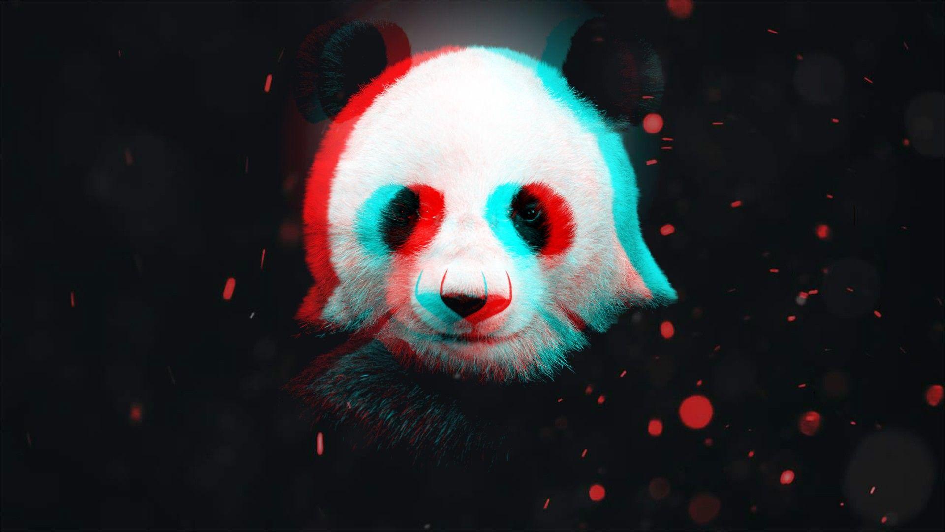 Anaglyph Panda [1920×1080] 4K