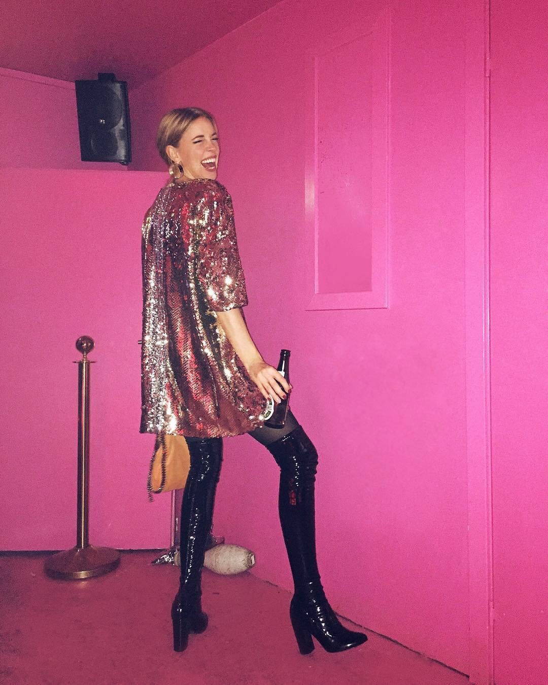 Sequin t-shirt and patent boots 💖💖💖 from @hannastefansson's closet