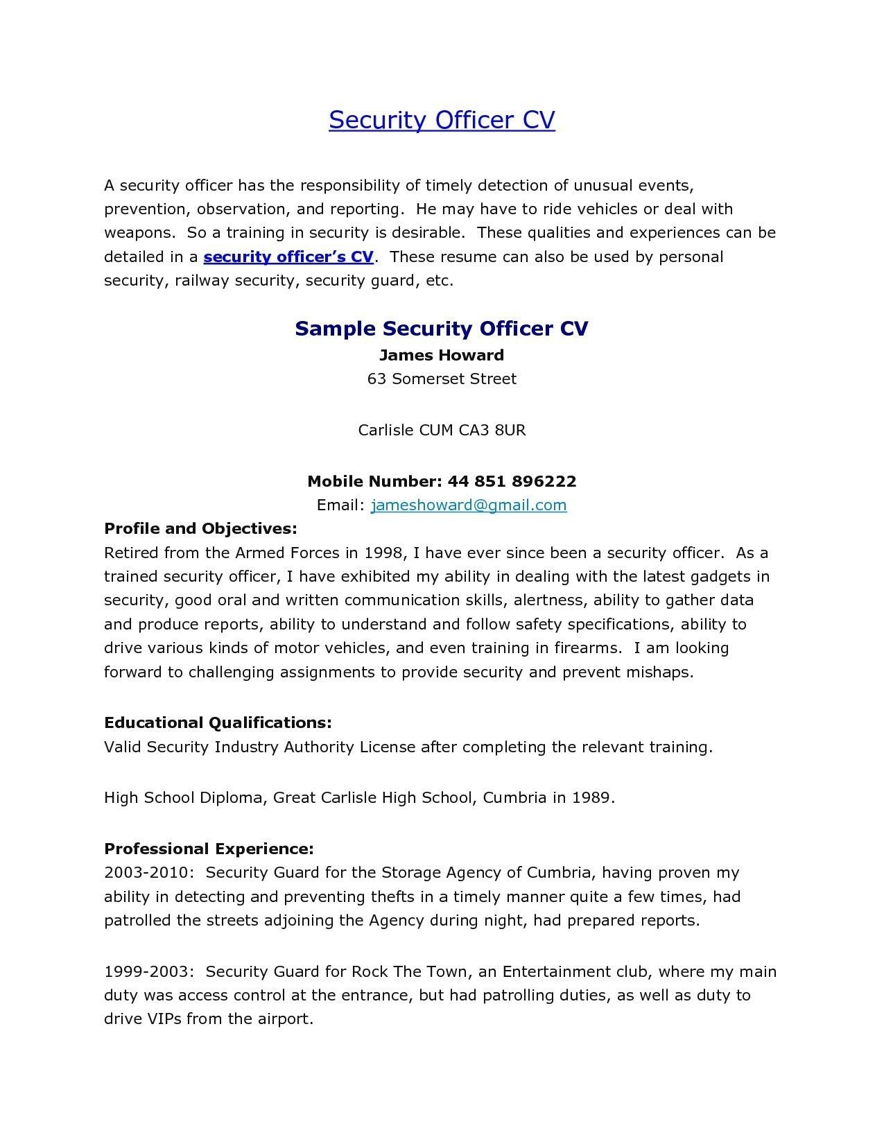 Best Refrence New Security Guard Experience Certificate Format By