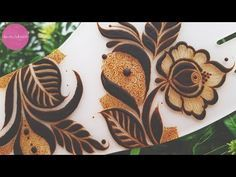 Bold Gulf/Arabic henna design| Henna tutorials, classes and lessons by Devaky S Dharan