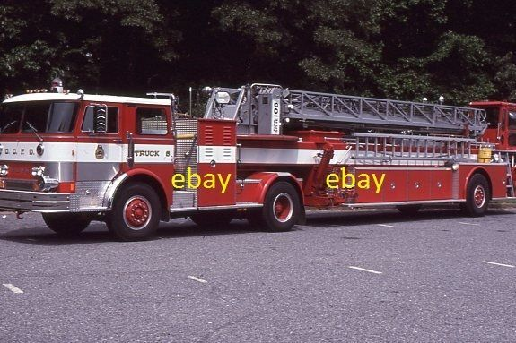 Washington DC Truck 6 - 1983 Hahn 106' TDA - Fire Apparatus Slide