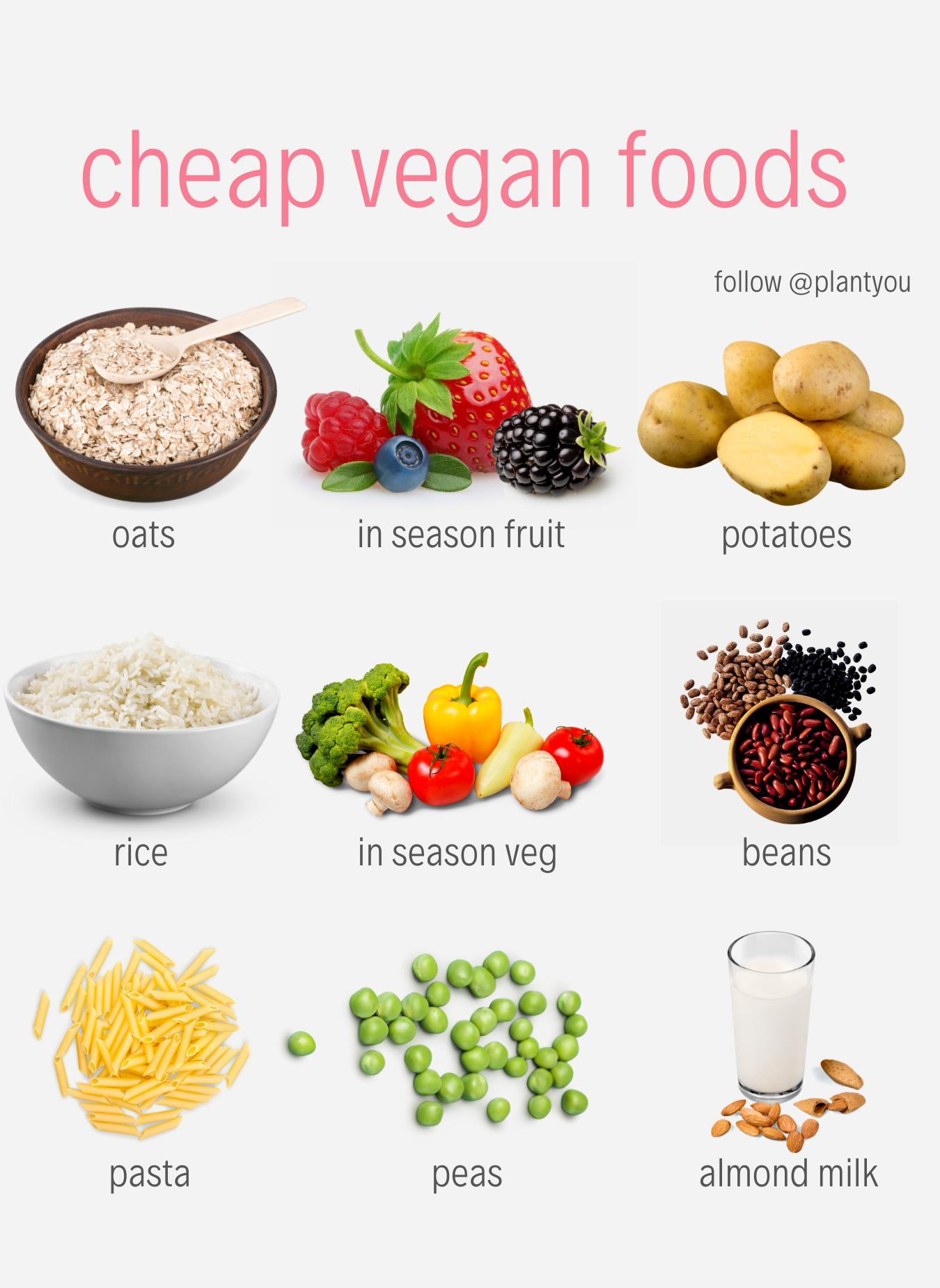 Cheap Vegan Food Budget Vegan Recipes Plant Based Budget Recipes Vegan On A Budget Vegan Recipes Plant Based Vegan Meal Plans Vegan Recipes Easy
