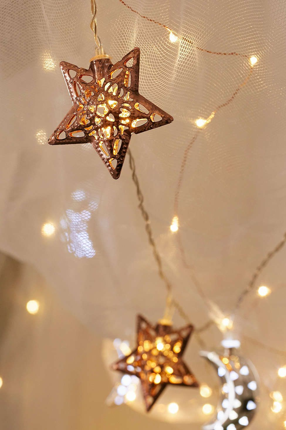 Copper Star String Lights   Star string lights, Lights and Apartments