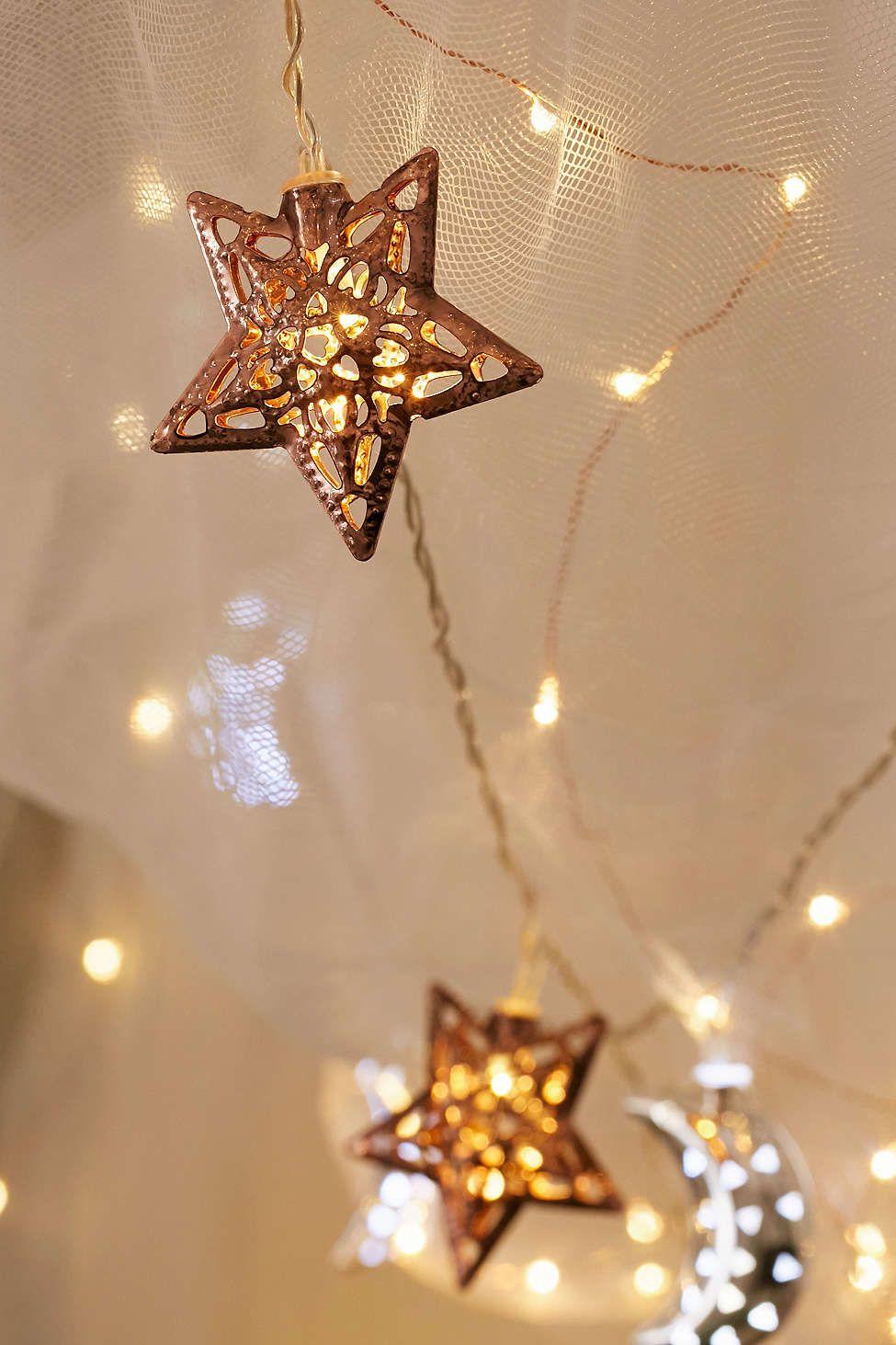 Copper Star String Lights For Ushim Pinterest Star - Star fairy lights for bedroom