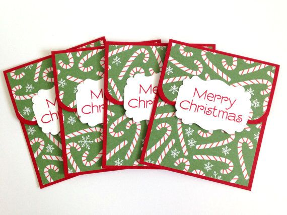 Candy Cane Christmas Money Cards - Christmas Gift Card Holders ...