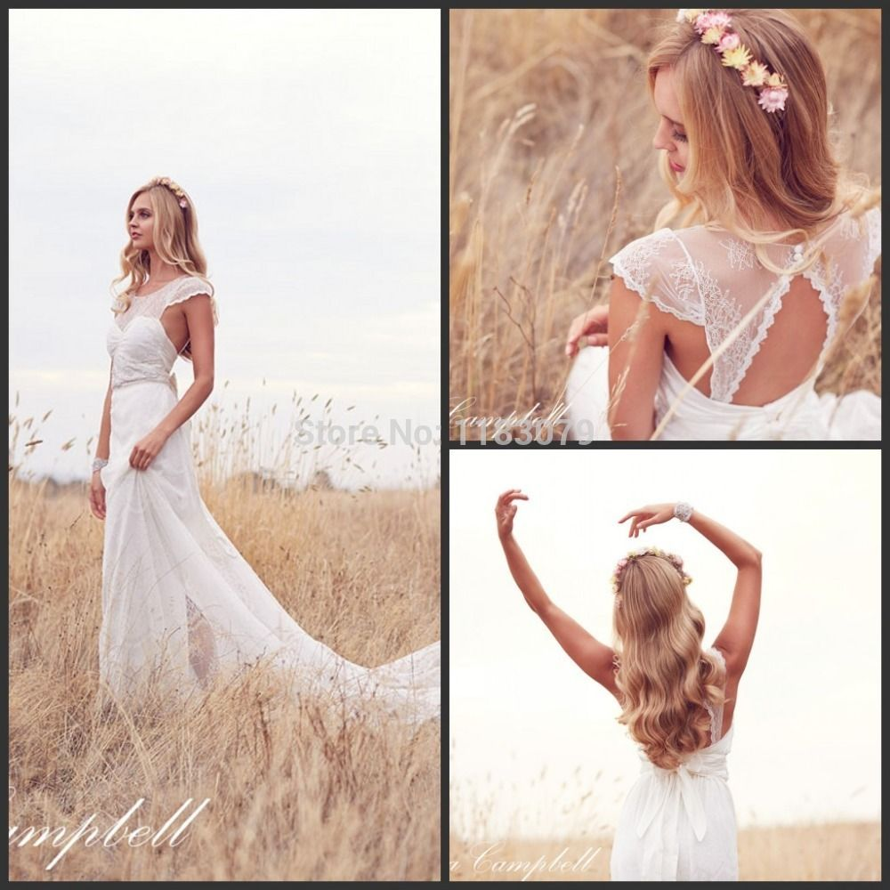 Custom Anna Campbell Backless Chiffon Vintage Bohemian Wedding Dress 2015 vestidos de noiva Bride Gown China Online Store - http://www.aliexpress.com/item/Custom-Anna-Campbell-Backless-Chiffon-Vintage-Bohemian-Wedding-Dress-2015-vestidos-de-noiva-Bride-Gown-China-Online-Store/32294800218.html