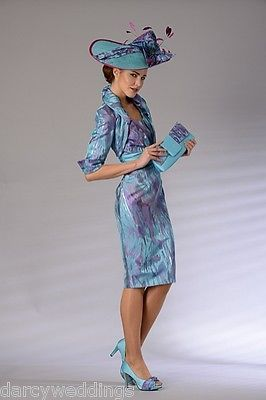 #Blue, purple & #silver multi toned #mother of the bride outfit by presen. uk 8, View more on the LINK: http://www.zeppy.io/product/gb/2/191809149774/