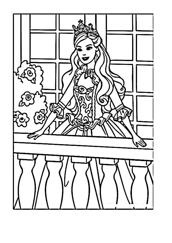 Dibujos para Colorear Barbie 75 | Inkleur | Pinterest | Barbie ...