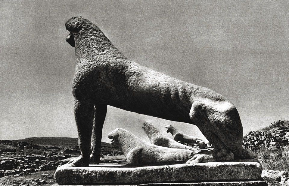 The Lions of Delos (end of 7th c.BC.),By Michel Gidon,1959