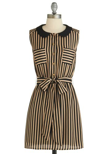 striped shirt dress with black peter pan collar $47.99