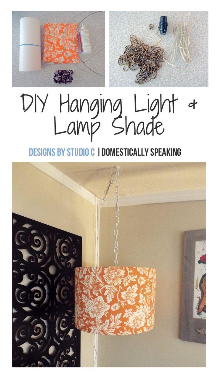 Diy Hanging Light Diy Hanging Light Hanging Lamp Diy Diy Lamp Shade