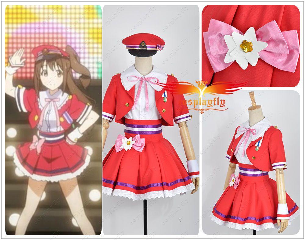 The Idolmaster 2 Cinderella Girls <New Generation> Shimamura Uzuki Cos Costume  #Handmade #satin
