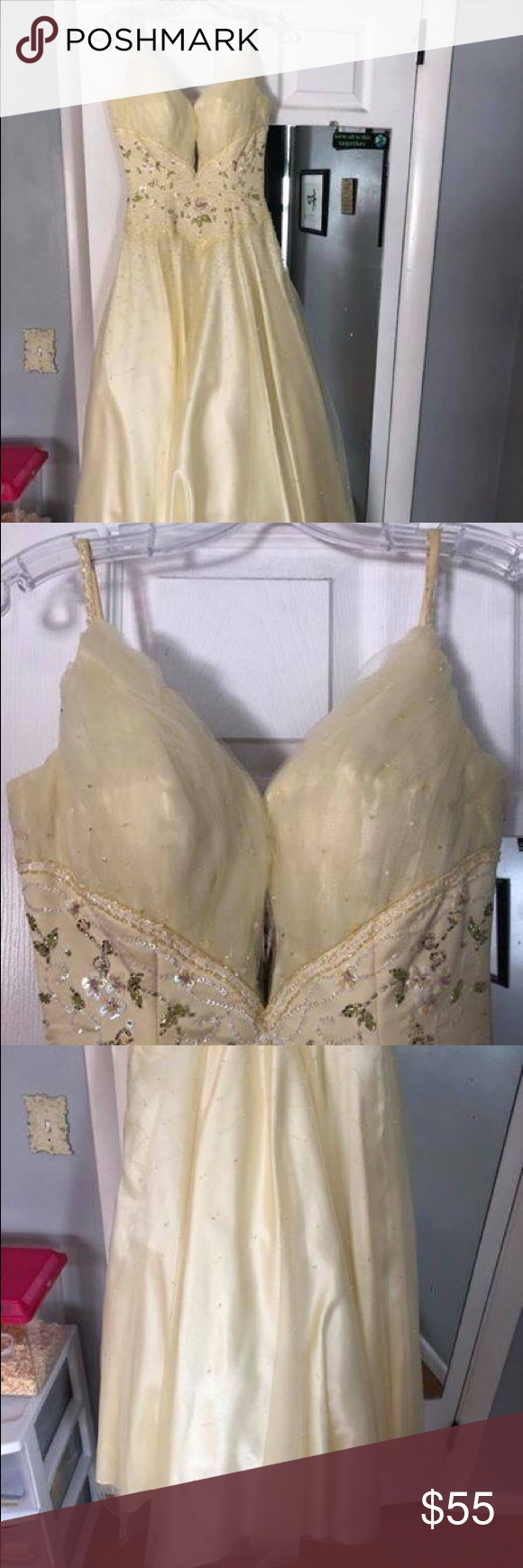 Yellow princess prom dress this dress reminds me of the disney