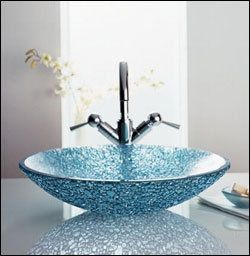 turquoise with white sink for the downsairs bathroom