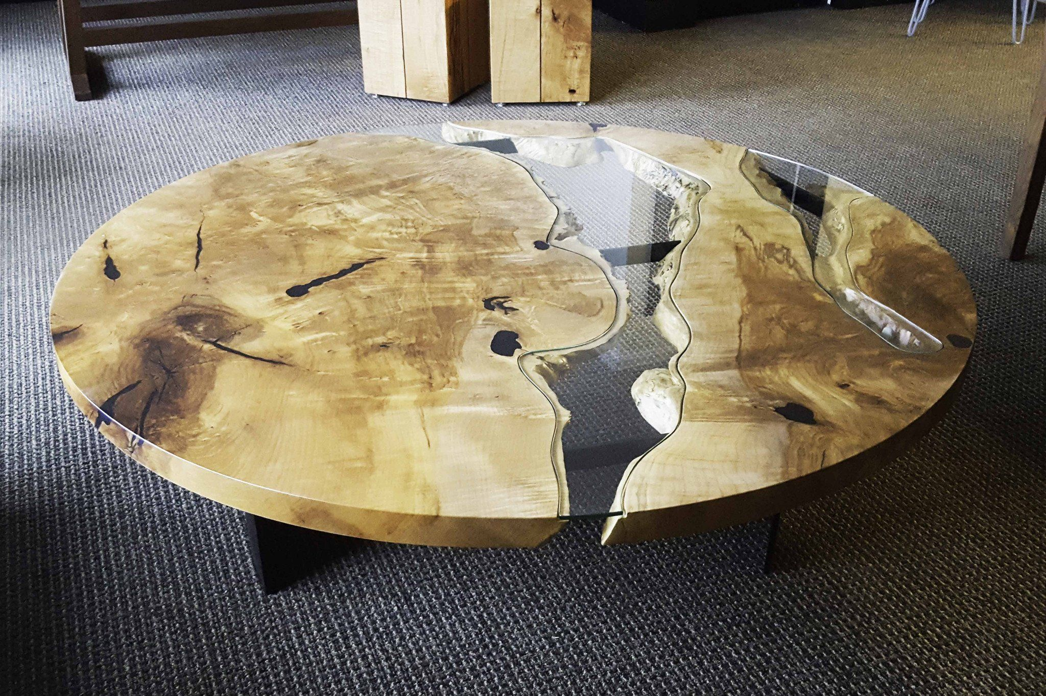 River Run Coffee Table By Live Edge Design Coffee Table Table Cool Things To Build [ 1362 x 2048 Pixel ]