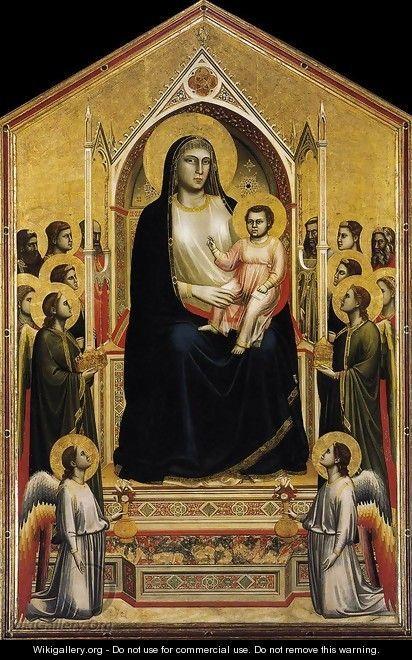 Ognissanti Madonna (Madonna in Maesta) c. 1310 - Giotto Di Bondone