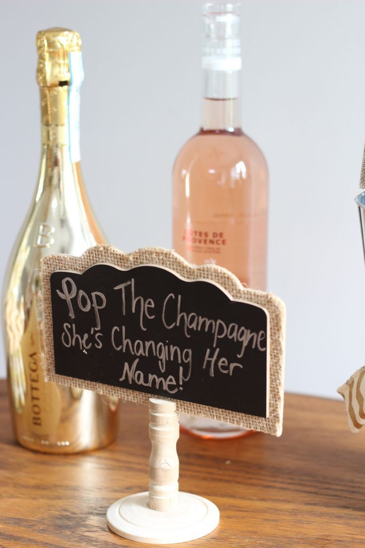 Cute Champagne Engagement Party Decor – Nikki's Plate