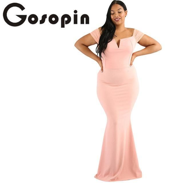 Gosopin Pink Sexy Plus Size Party Dresses Products Pinterest