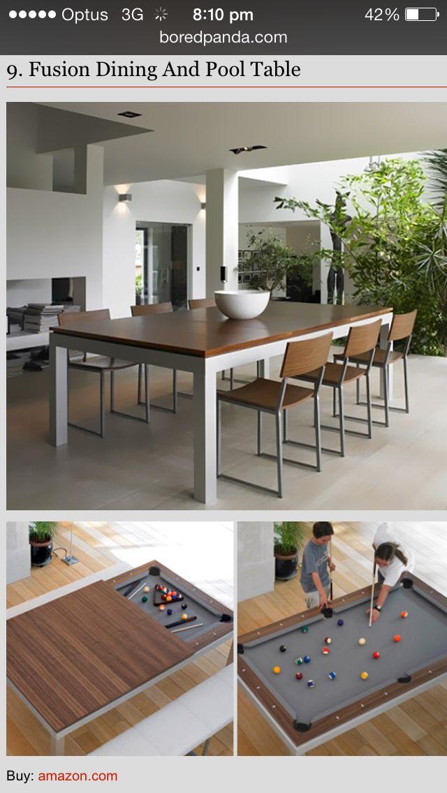 Pool Tabledinning Table  Living Room Ideas  Pinterest  Dinning Simple Pool Table Living Room Design 2018