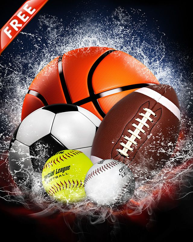 Free 16x20 Sports Background - Splash Collection