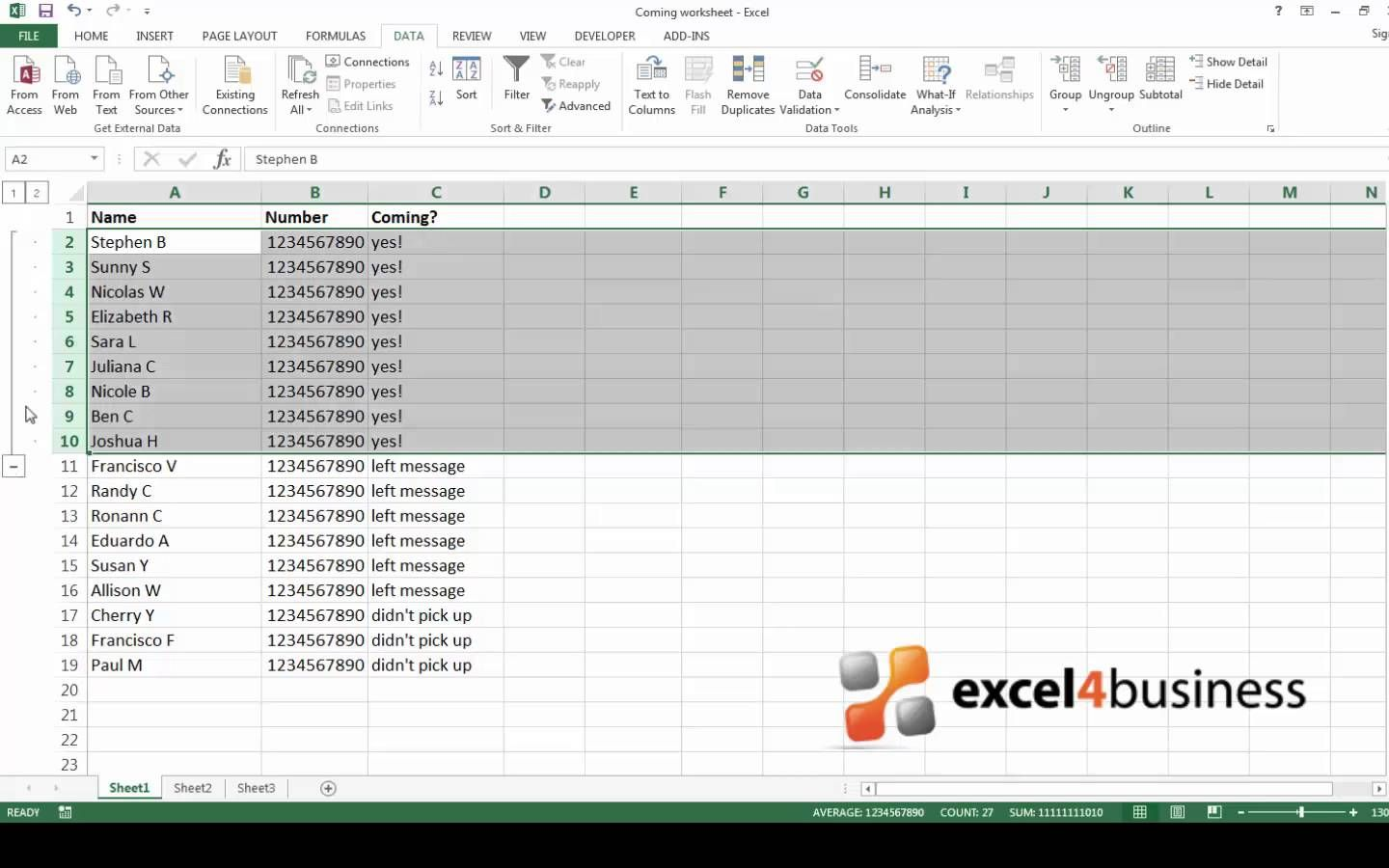 How To Group Rows And Columns In Excel With Images