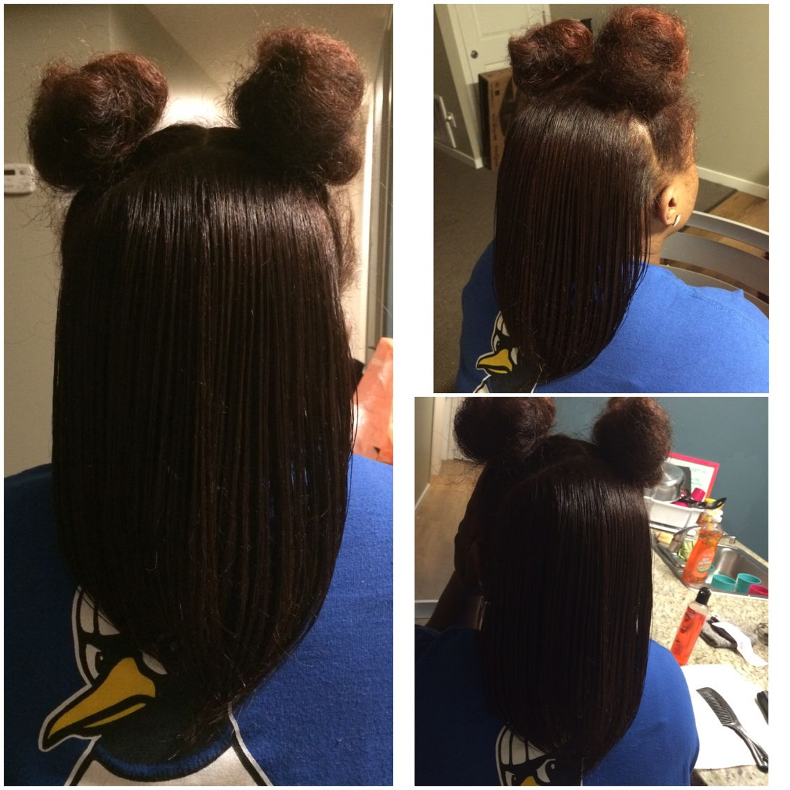 Flat Iron With 2 Puff Balls Done By Me Lovewhatido Flatiron Cosmetologist Puffballs Makeanappointment Smoo Ball Hairstyles Down Hairstyles Hair Styles
