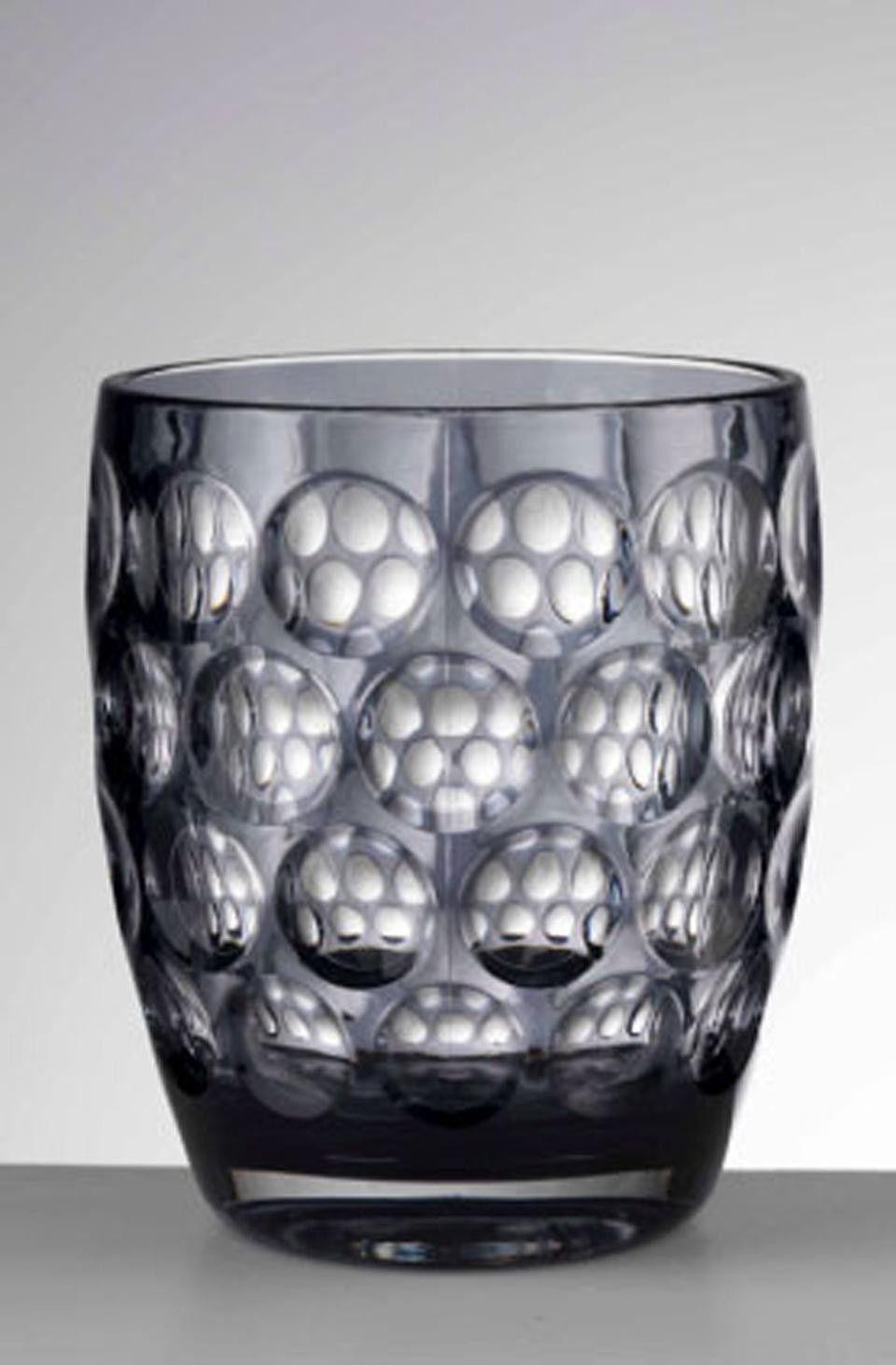 Mario Luca Giusti Lente Grey Tumbler 4 25 H Set 6 Barware Lente Mario Luca Giusti Automatic Soap Dispenser Acrylic Glassware