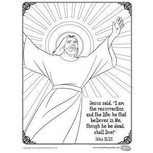 vintage Easter coloring page ... Jesus said, \