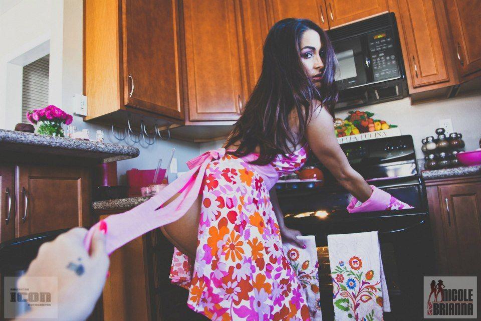 Nikki Bella Baking
