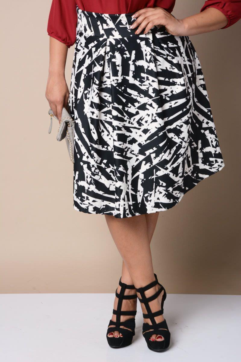 Classy Linear A-Line Skirt