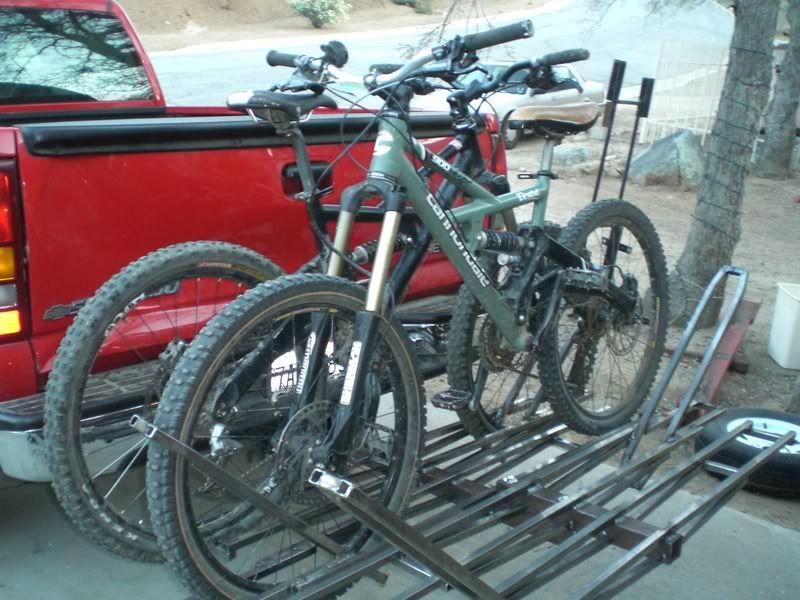 Home Made Bike Rack Bike Rack Bike Bicycle