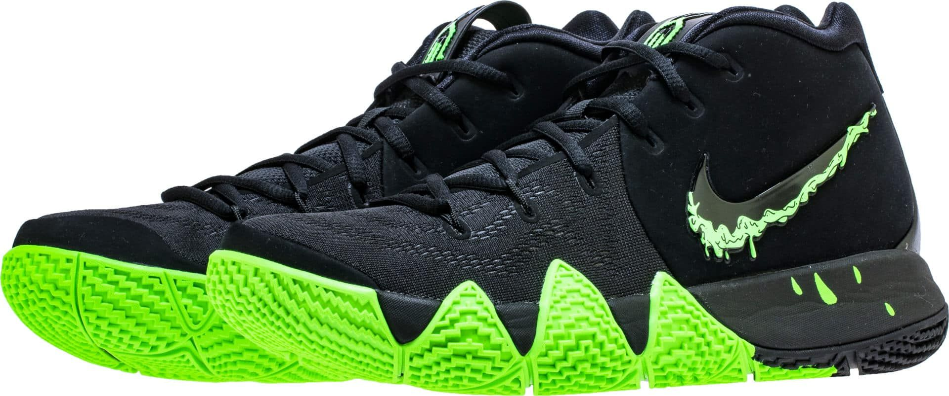 hot sale online dfd04 8b4a5 Nike Kyrie 4 Black Rage Green Halloween