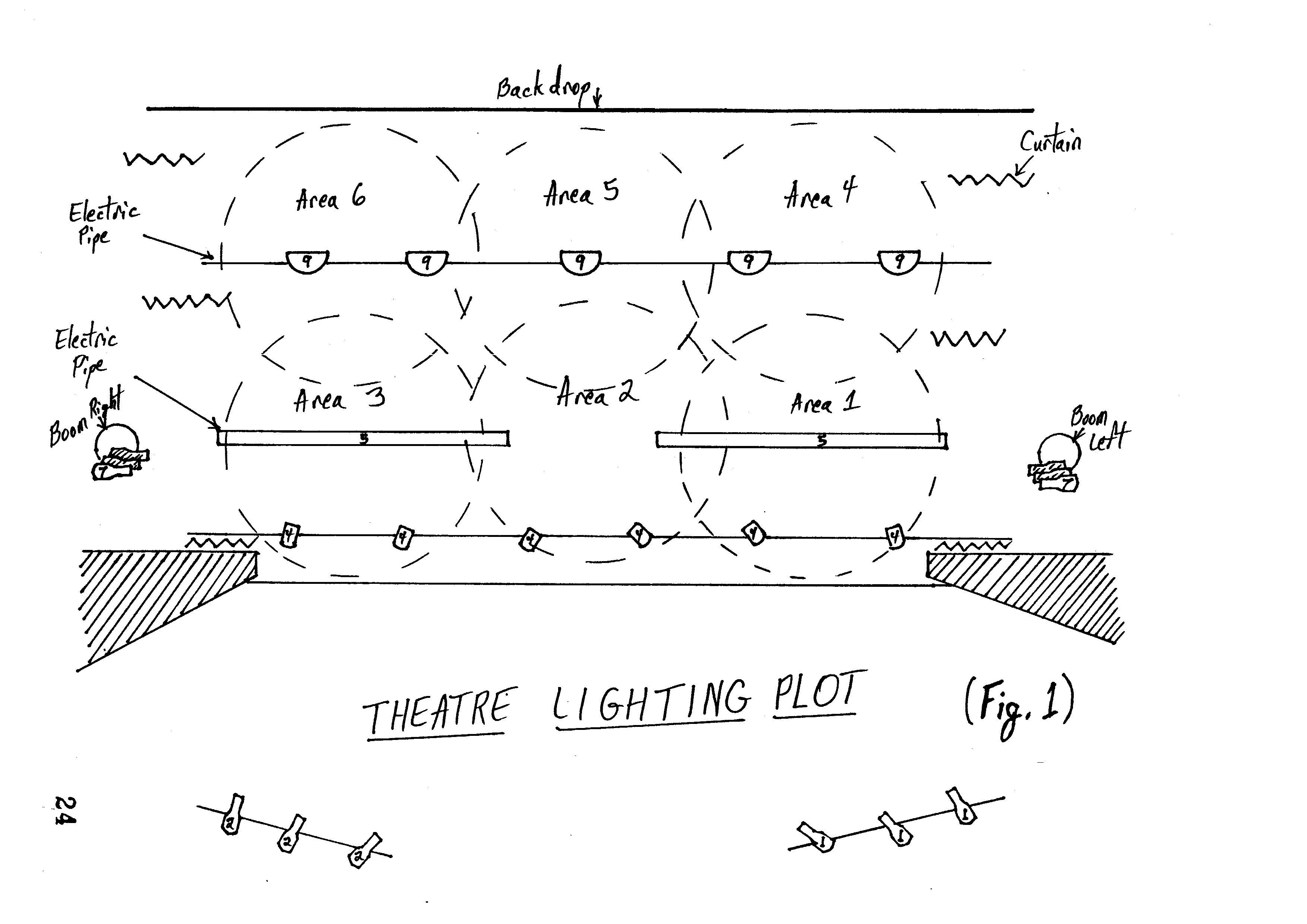 theatre light plot small venue  [ 3508 x 2480 Pixel ]