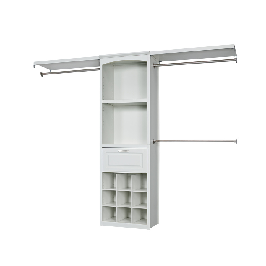 Shop Allen + Roth 8 Ft White Wood Closet Kit At Lowes.com