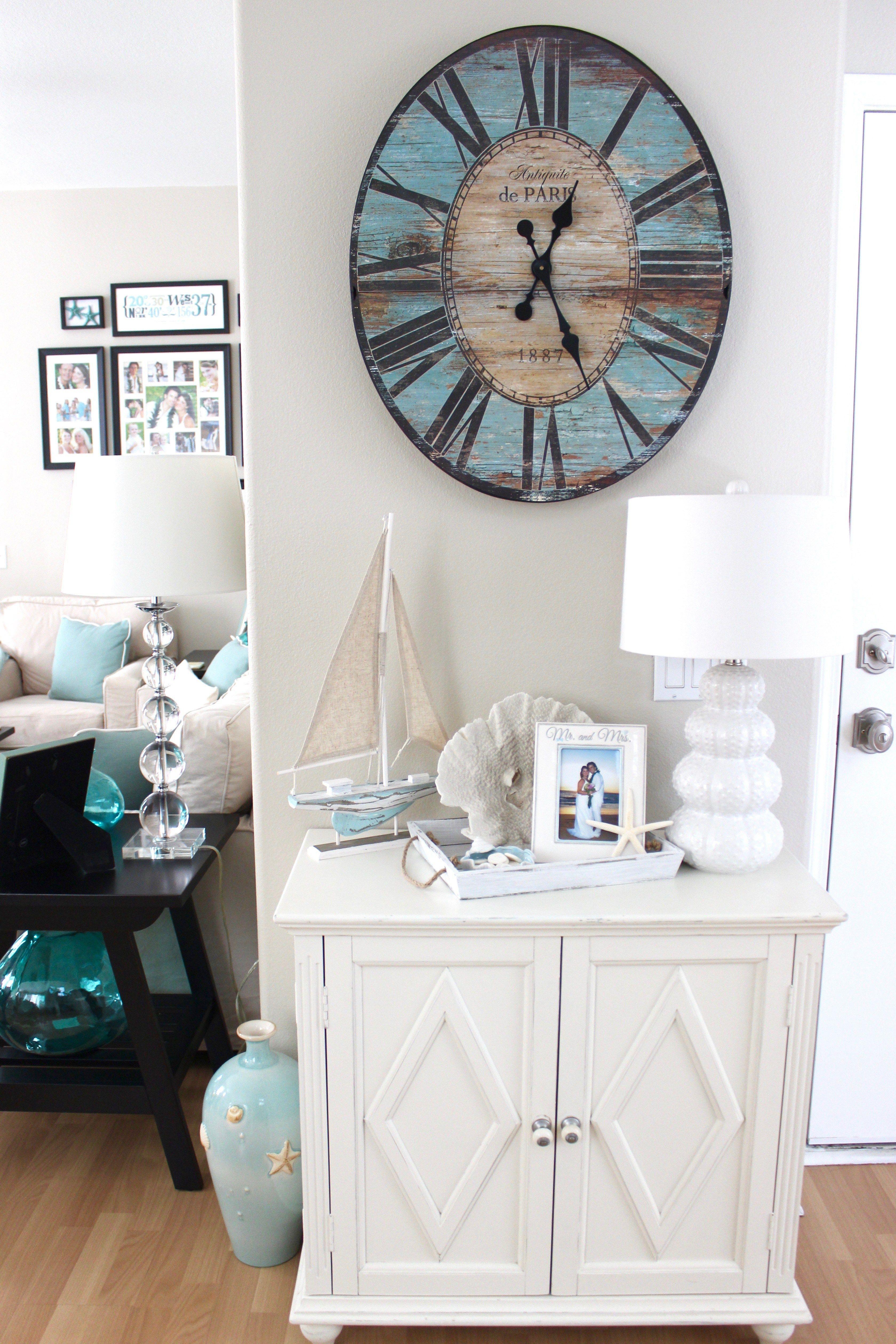 Beach House Decor - Rustic Clock | Coastal Style | Pinterest ...