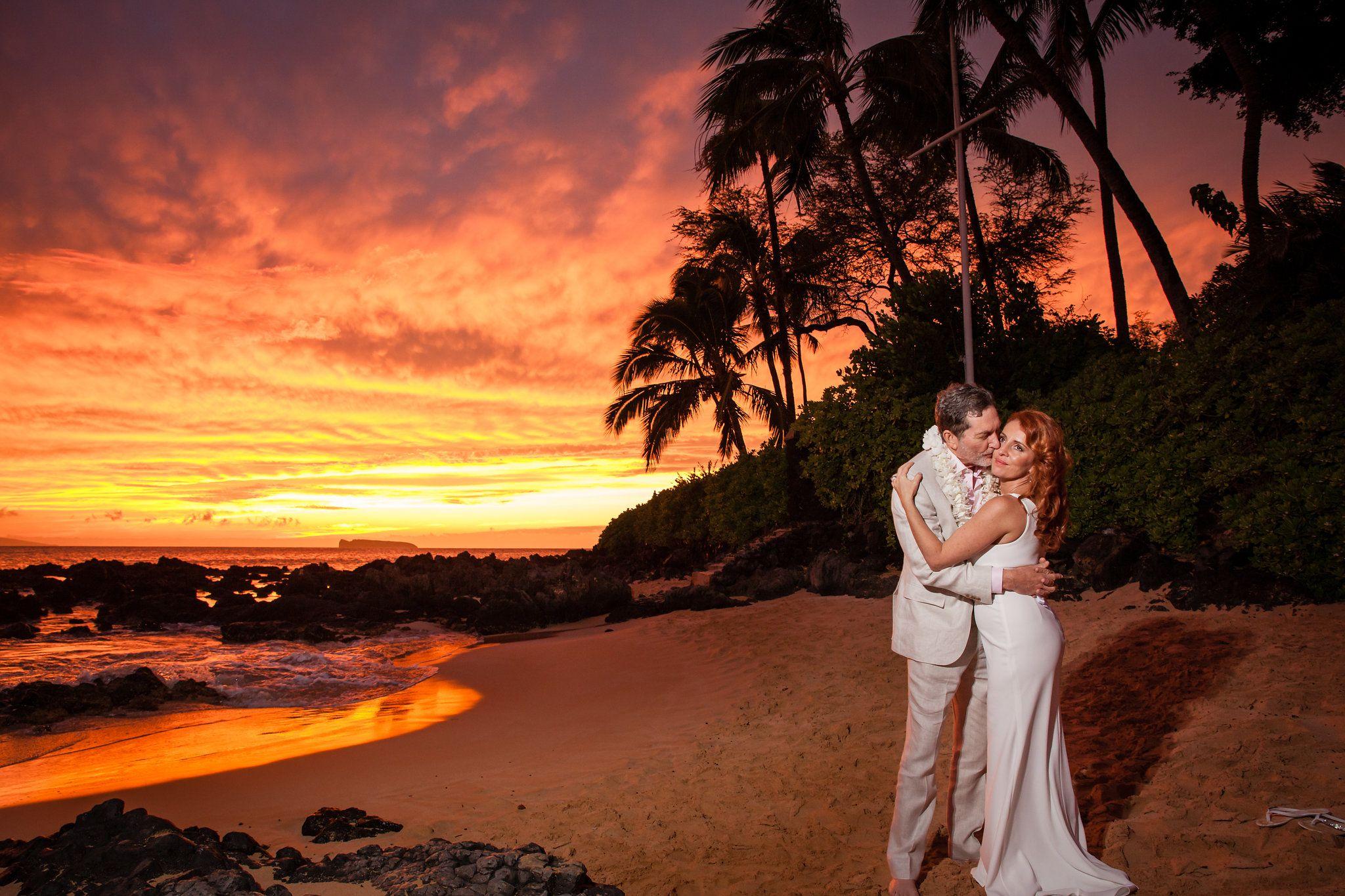 Hawaiian Sunset Wedding Maui Beach Wedding Hawaii Beach Wedding Maui Wedding Locations