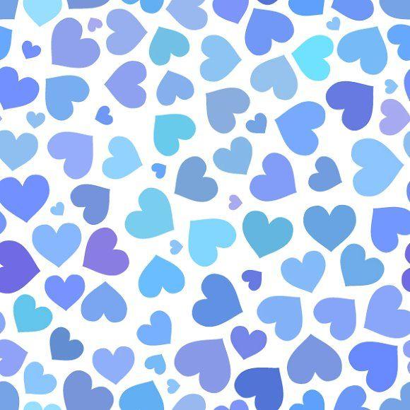Blue Heart On A White Background Heart Pattern Background Flower Background Wallpaper Valentines Wallpaper