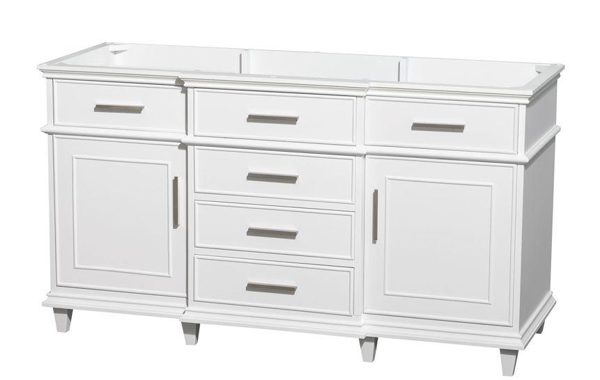 Double Bathroom Vanity Cabinet With Cupboard Berkeley 59 Inch