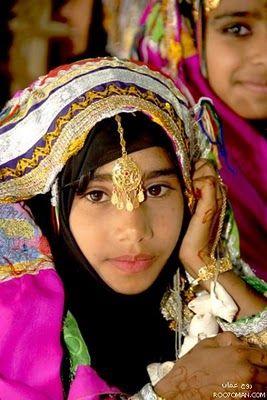 Beautiful Omani girl in National Dress