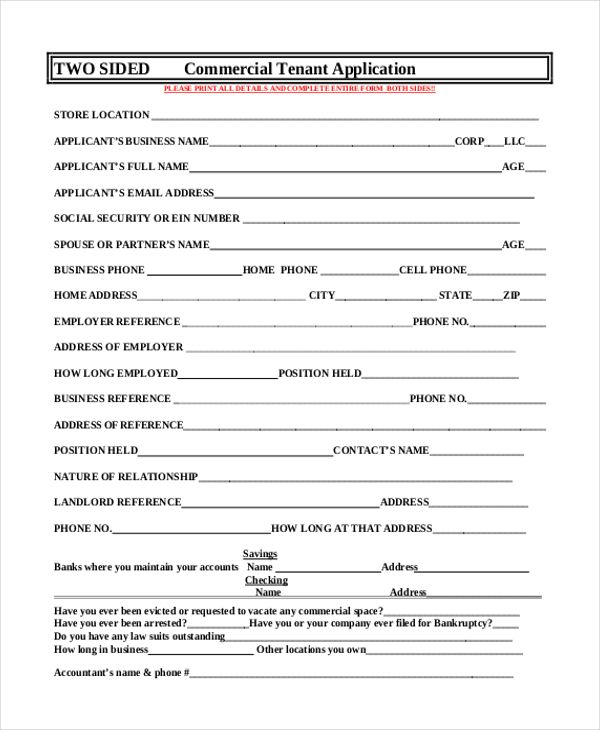 Tenant Application Form template Pinterest Template - tenant application form