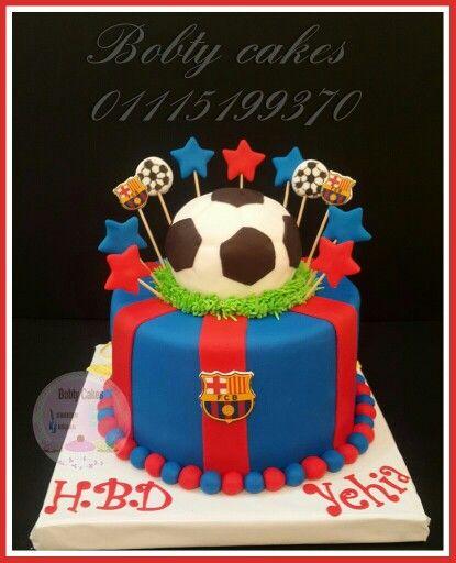 Soccer Barcelona cake Cakes Bobty cakes Pinterest Cake