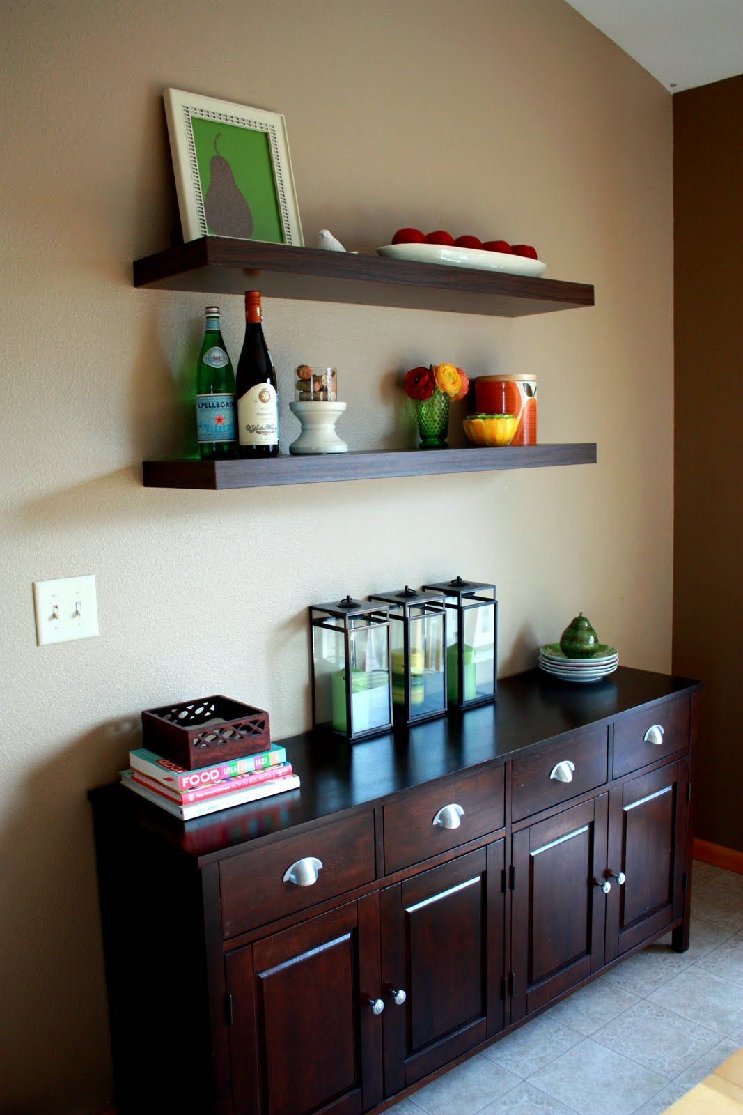 Shelves In The Living Room: LACK Floating Shelves For Living Room And Master Bedroom