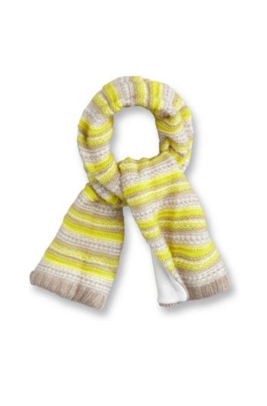 86e520aa1d8 Écharpe en tricot a rayures doublé en polaire douce enfant bébé de 3 à 12  mois