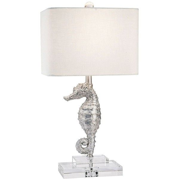 Couture Harbour Island Silver Seahorse Table Lamp ($233) ❤ liked on ...