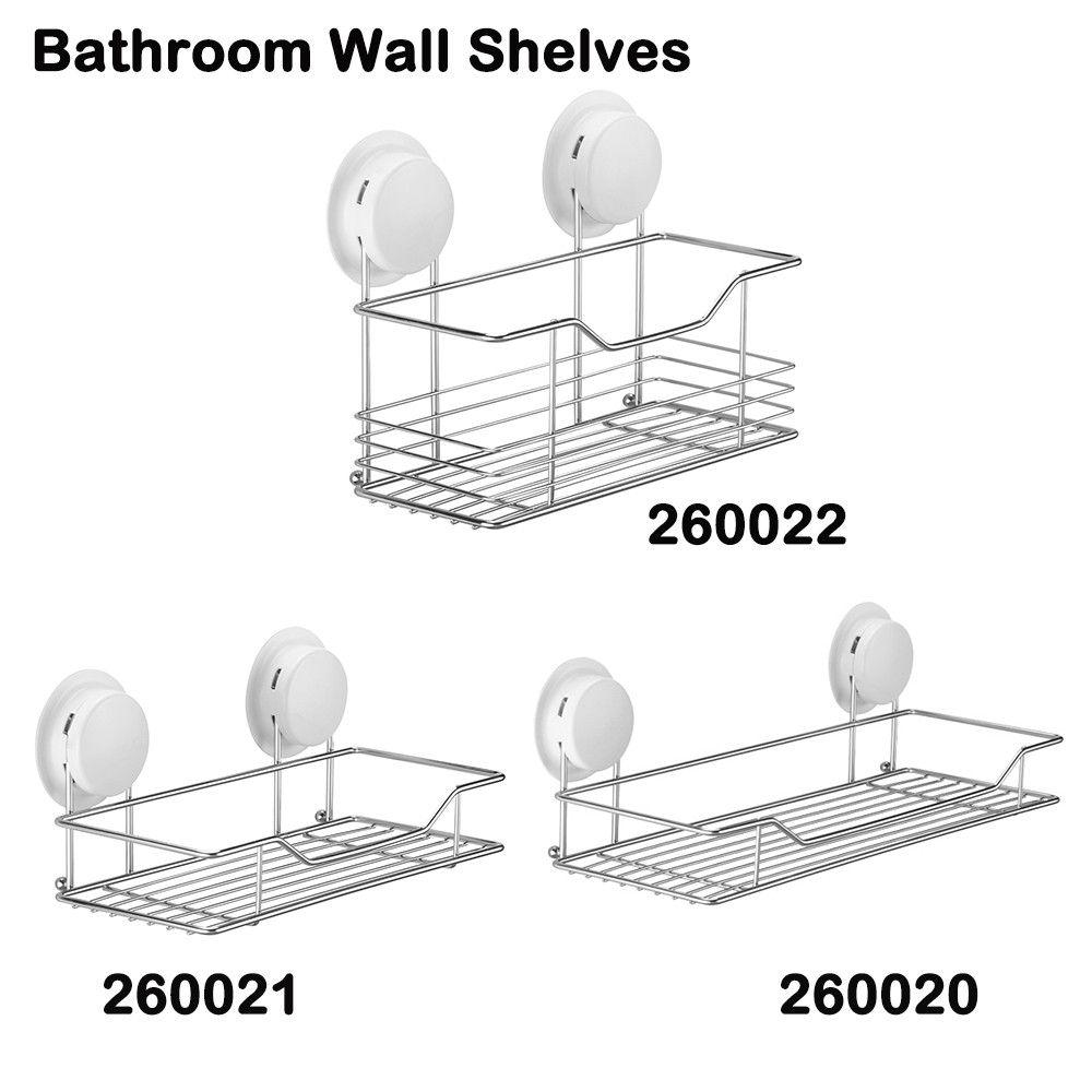 Gar Bath Bathroom 1-Tiel Shelves/Shelf/Rack Waterproof Suction Cup ...
