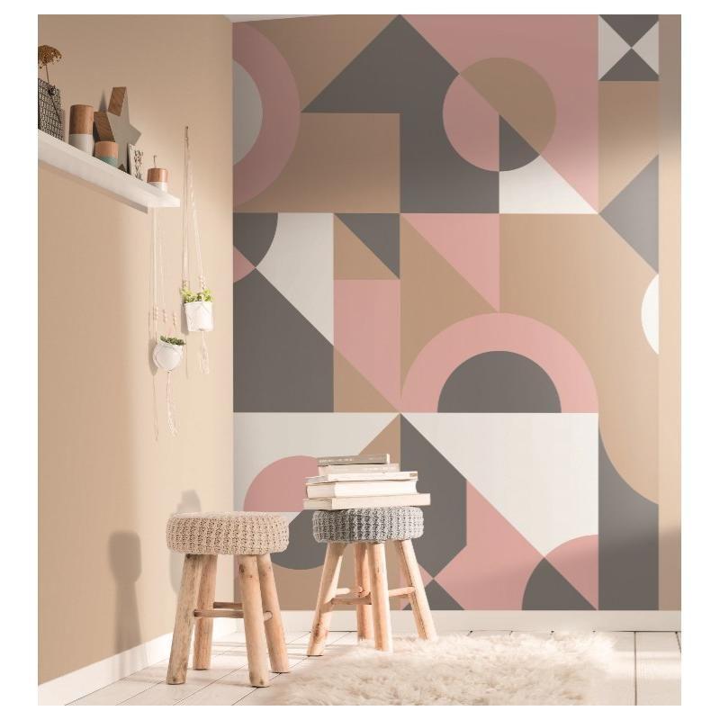 Panoramique Cubisme Motifs Géométrique sur intissé – SPACES – Caselio