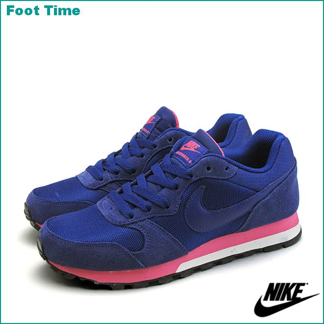 blue and pink nike runners