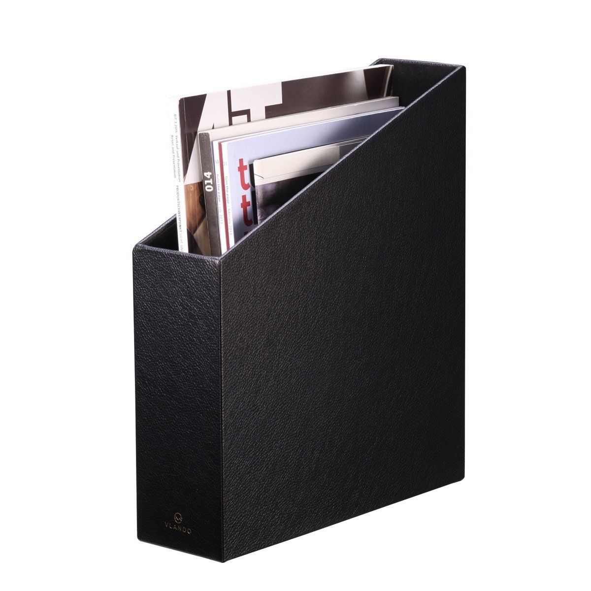 home office magazine. Vlando Home Office Leatherette Organizer Collection Magazine File Holder, Assorted Color (Onyx Black